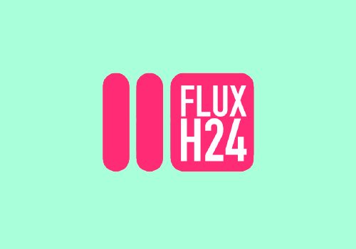 logo fluxh24 azzurro